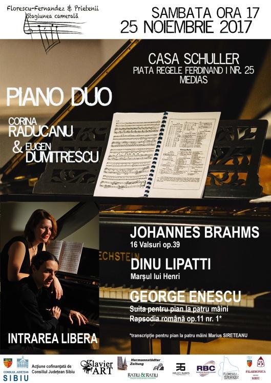 20171125 PUB piano duo MEDIAS RO A5 INVITATION FRONT